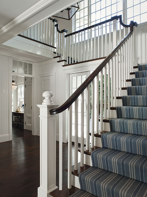 Blue Striped Runners For Stairs And Hallway Content In A